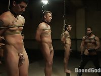 Three hot boys are auctioned off to the highest bidder during a..